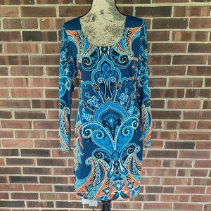 Like new INC long sleeve printed dress